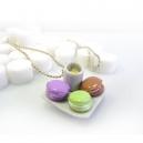 Collier Assiette et macarons